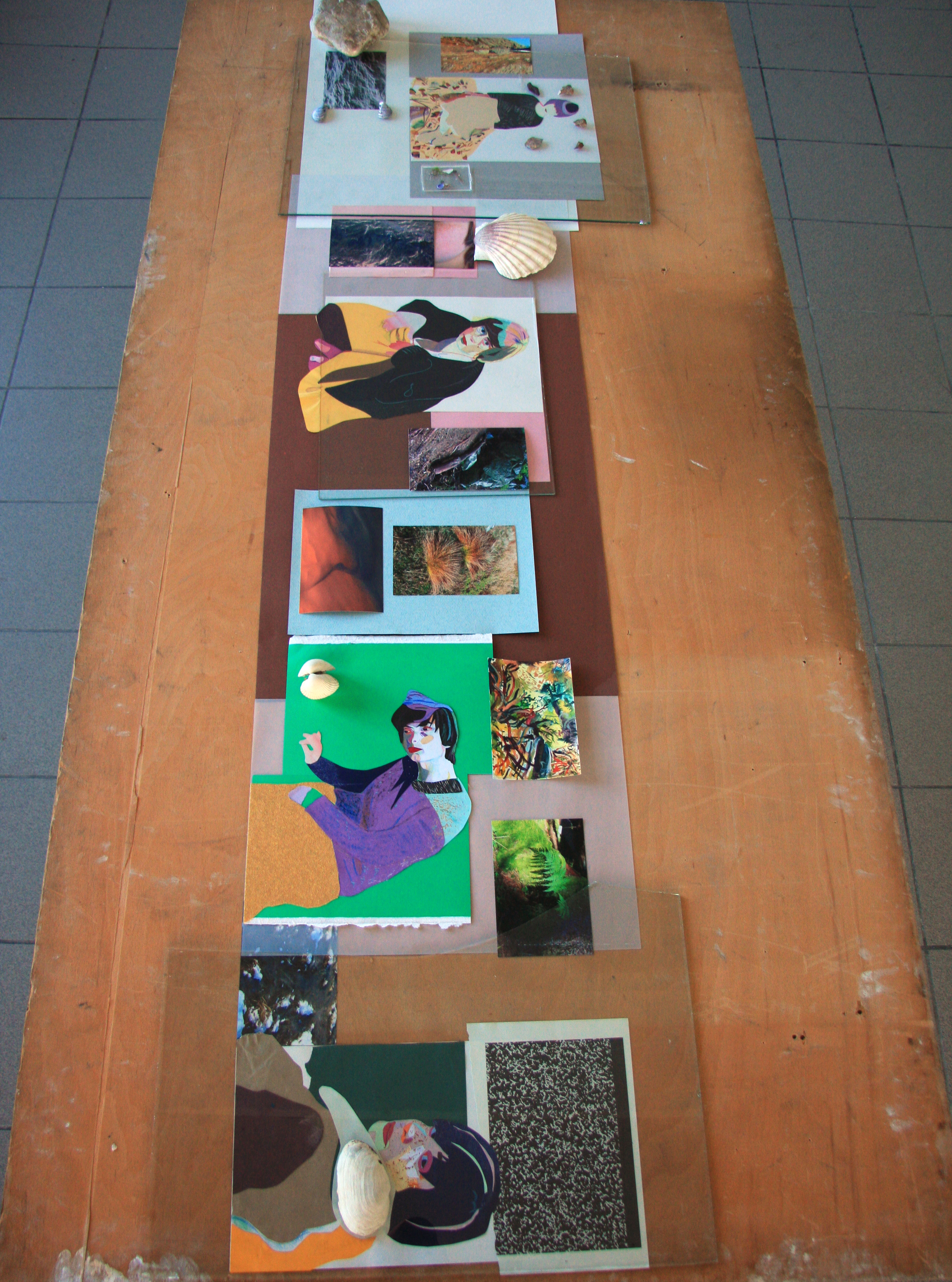 Untitled, collages made whilst in residence at USF, Bergen, Norway